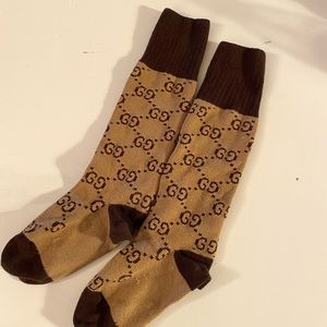 Gucci pattern cotton blend socks